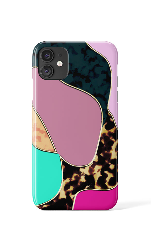 Bubble Panther Case (Purple) - iPhone