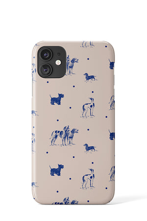 Load image into Gallery viewer, Dotty Dogs (Beige Blue) - iPhone
