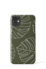 Monstera Case (Green) - iPhone
