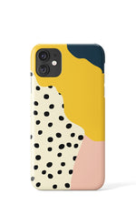 Wavy Shapes & Big Dots Case - iPhone