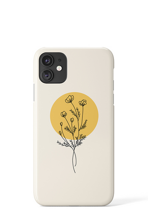 Load image into Gallery viewer, Line Art Flower Case - iPhone