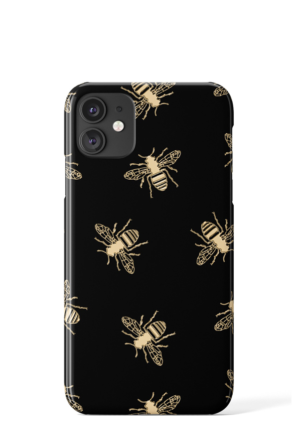 Load image into Gallery viewer, Bees Case (Black) - iPhone