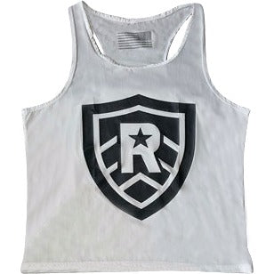 Ladies Racerback Flag and Shield Tank - RivalrySportsMarketing