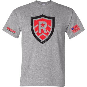 Distressed Shield T-Shirt - RivalrySportsMarketing