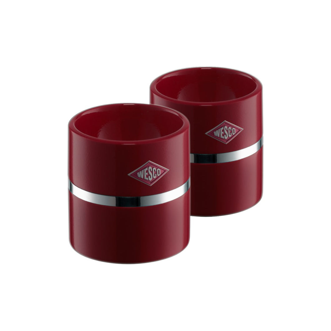 Egg Cup Set of 2 -Ruby Red - Wesco US