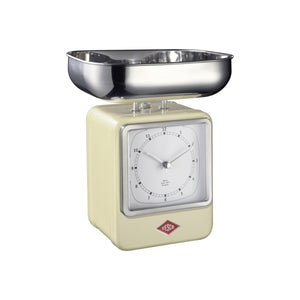 Retro Scale with Clock - Almond - Wesco US