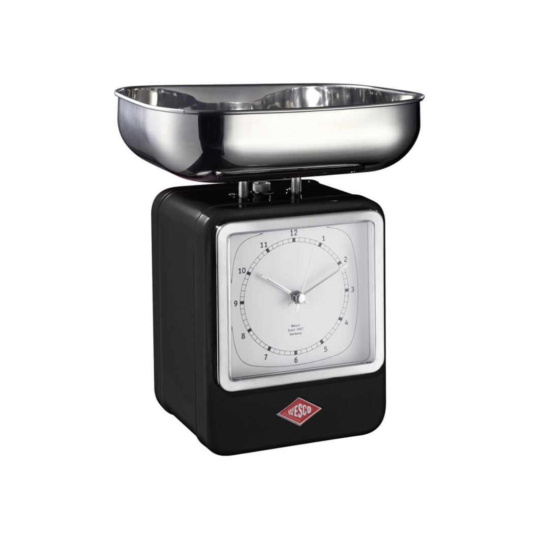 Retro Scale with Clock - Black - Wesco US