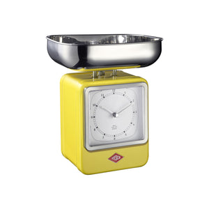 Retro Scale with Clock - Lemon Yellow - Wesco US