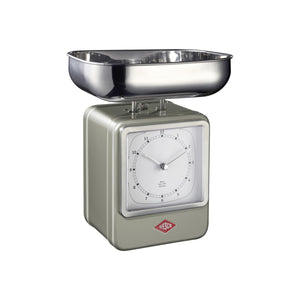 Retro Scale with Clock - New Silver - Wesco US