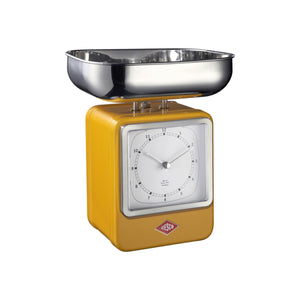 Retro Scale with Clock - Orange - Wesco US