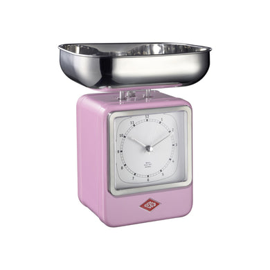 Retro Scale with Clock - Pink - Wesco US