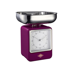 Retro Scale with Clock - Purple - Wesco US