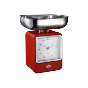 Retro Scale with Clock - Red - Wesco US