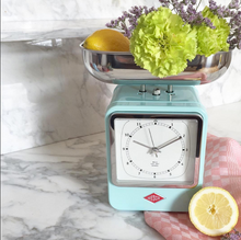 Retro Scale with Clock - Lime Green - Wesco US