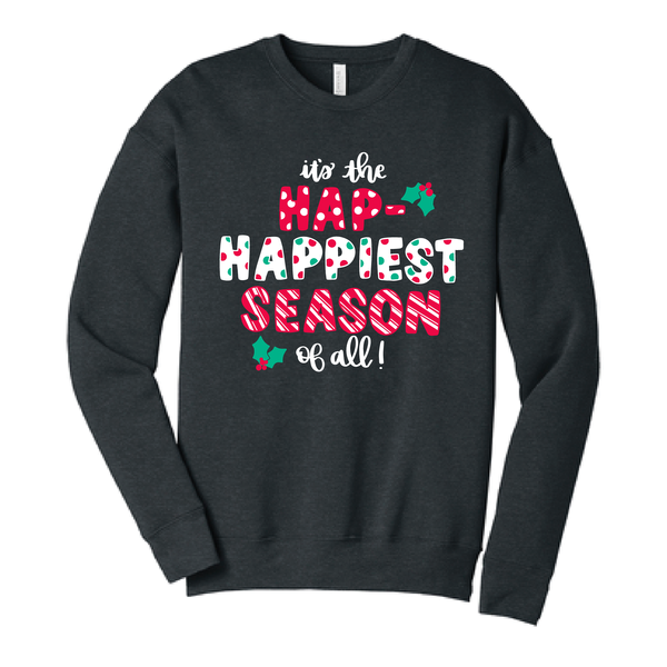 Hap-Happiest Season - Cozy Sweatshirt