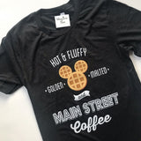 Waffles and Coffee -  Charcoal Black