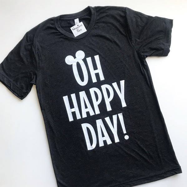 Oh Happy Day! - Tee - Charcoal