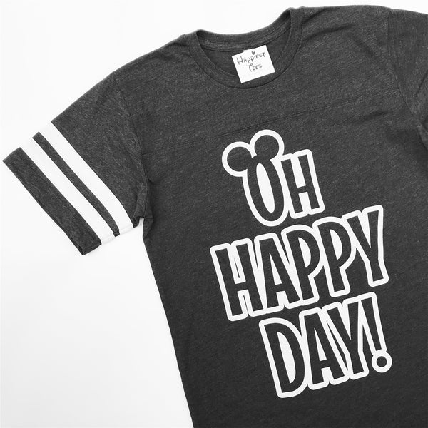 Oh Happy Day - Jersey - Charcoal