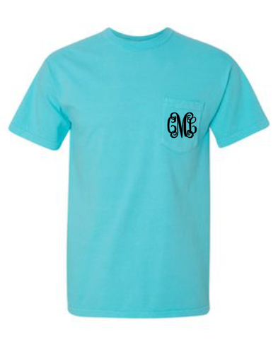 Monogram Pocket Crew Neck Tee