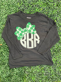 Youth Monogram Bow Long Sleeve T
