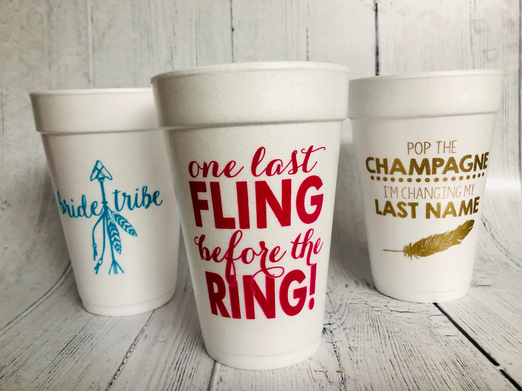 Wedding Themed Cups