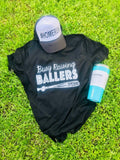 Raising Ballers V- Neck T (Black)
