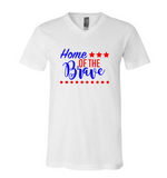 Home of the Brave V Neck Tee