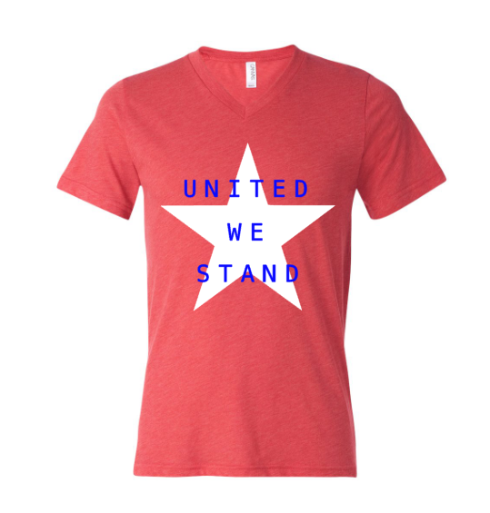 United We Stand V Neck Tee