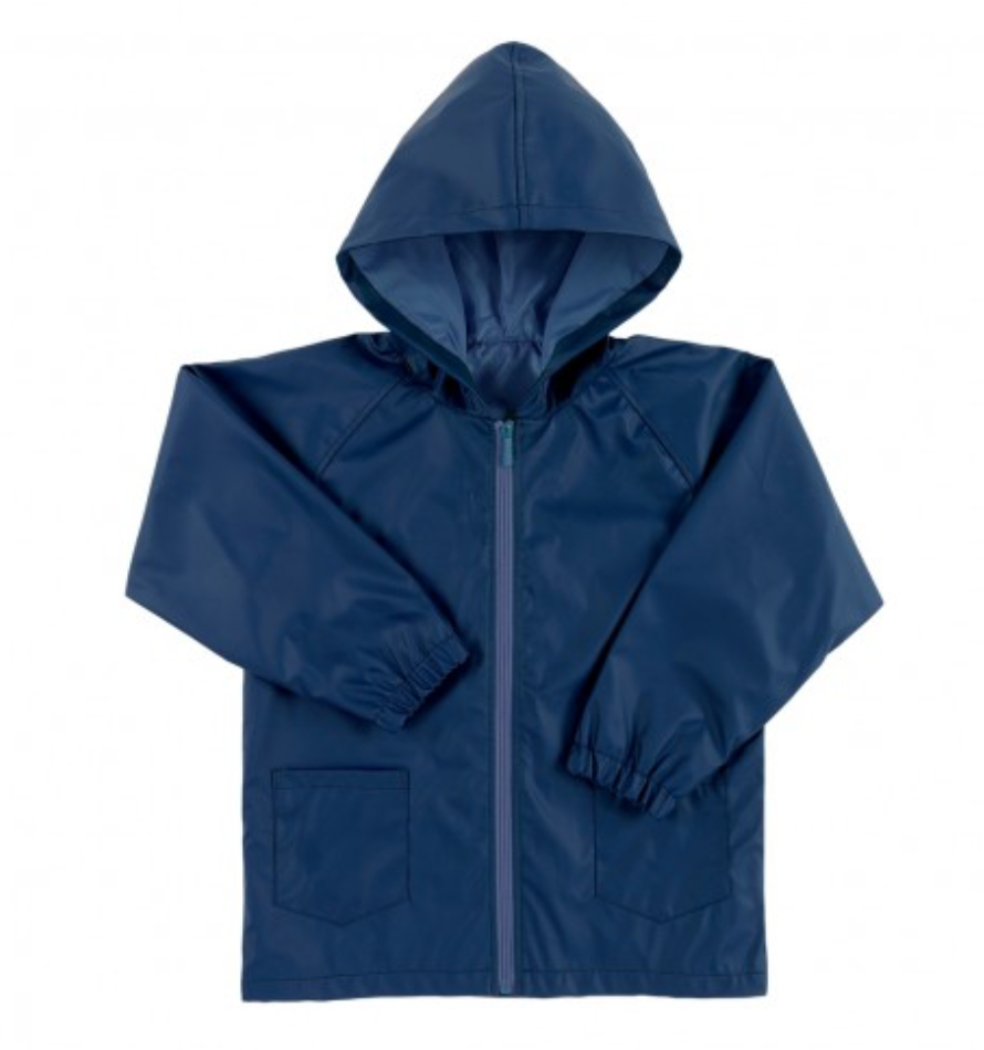 Kids' Navy Rain Jacket