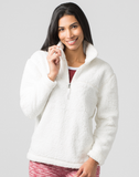 Natural Quarter Zip Sherpa Pullover