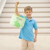 Green Cotton Tail Easter Bucket