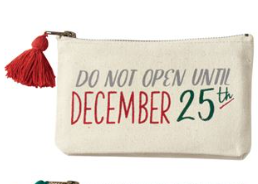 Do Not Open Zipper Pouch