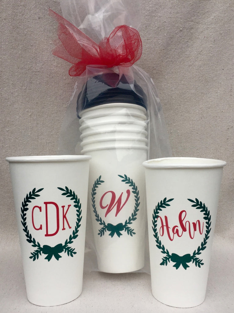 Personalized Christmas Coffee Cups