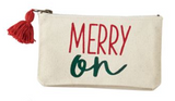Merry On Zipper Pouch