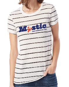 Mystic Navy Striped Eco-Jersey Tee
