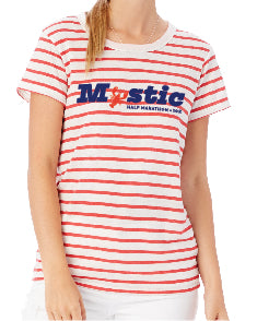 Mystic Red Striped Eco-Jersey Tee
