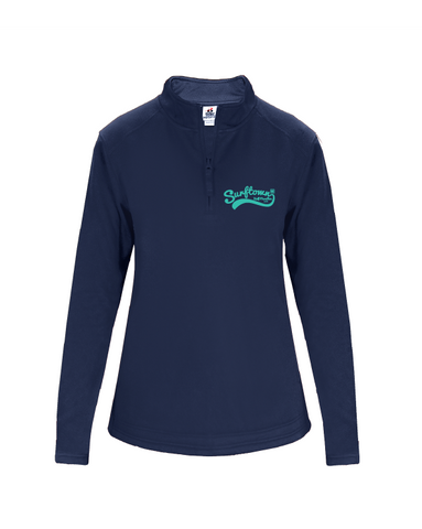 Surftown Women's Navy Quarter Zip