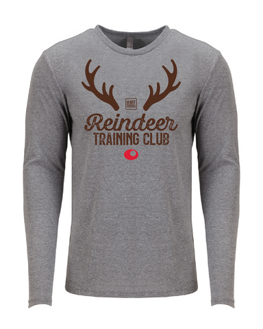 Reindeer Training Club Tri-Blend Shirt - Heather Gray