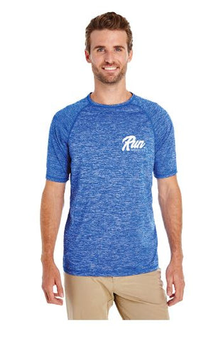 Run Mystic Men's Blue Performance Tee