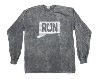 Tie-Dye Mineral Long Sleeve T-Shirt - Gray