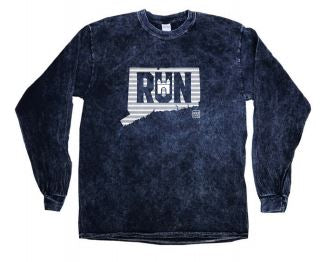 Tie-Dye Mineral Long Sleeve T-Shirt - Navy