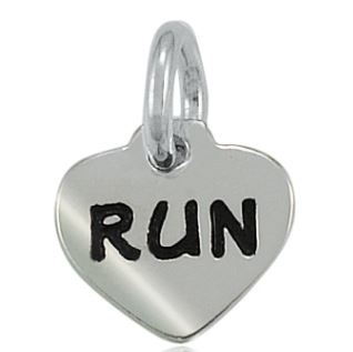 Tiny Run Heart Charm