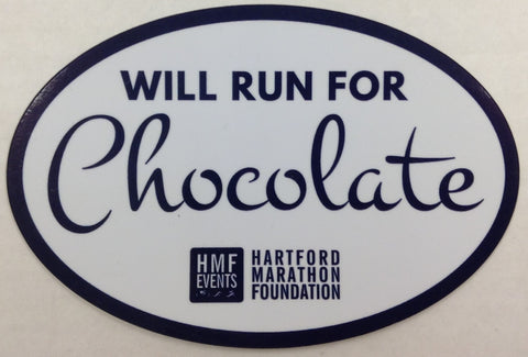 Will Run For Chocolate Magnet