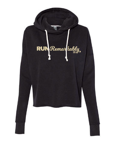 Run Remarkably Women's Black Lounge Hoodie