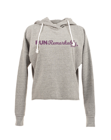 Run Remarkably Women's Smoke Heather Lounge Hoodie