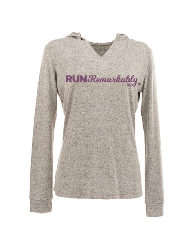 Run Remarkably Smoke Heather Pullover Hoodie