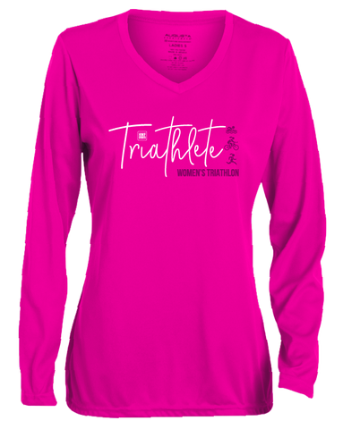 Triathlete Pink Long Sleeve Shirt