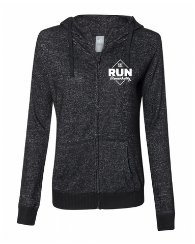 Run Remarkably Black Zip Hoodie