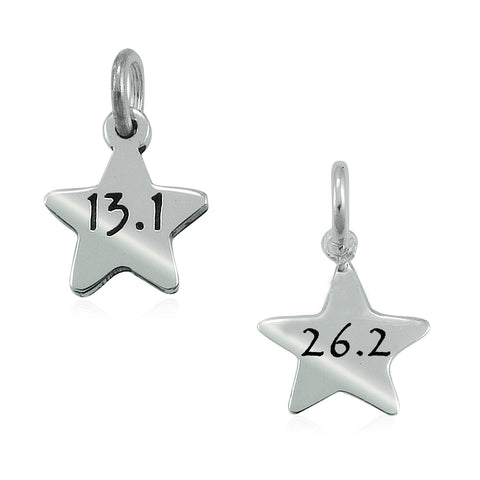 13.1 & 26.2 Star Charms