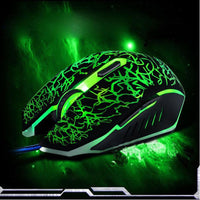 6 keys Professional 4000 DPI Optical Wired Gaming Mouse